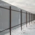 Забор из профнастила внутренняя сторона на двух лагах
