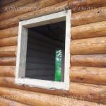 Окосячка окна в колоду