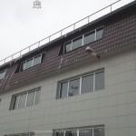 Монтаж металлочерепицы на промышленное здание