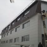 Монтаж металлочерепицы на промышленное здание + откосы