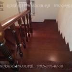 Лестница с поворотными ступенями материал дуб вид сверху