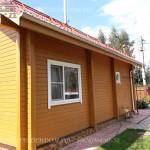 Покраска деревянного брусового дома