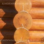 Покраска торца деревянного дома