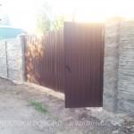 Забор из искусственного камня