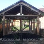 Кованные ворота в гараж