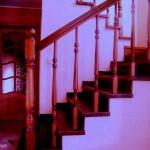 Отделка бетонной лестницы материал ясень