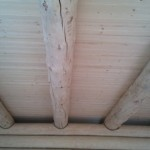 потолок вагонка по балкам