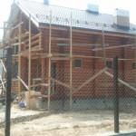 покраска деревянного дома сруба