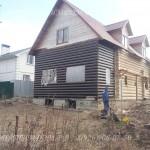 Пристройка к дому под общей крышей