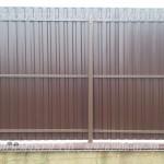 Забор из профнастила 3 лаги внутренняя сторона