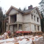 Кровля металлочерепица на дом из блоков