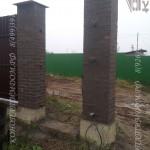 Кирпичные столбы для калитки