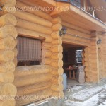 Конопатка дома зимой