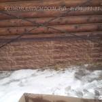 Монтаж цокольного сайдинга на дом из бревна