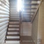 Деревянная лестница зашитый низ, открытый верх