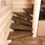 Лестница из бревна