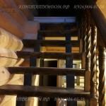 Лестница из бревна второй марш