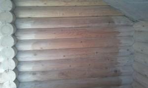 шлифовка деревянного дома