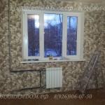Монтаж окна, перенос радиатора, обои