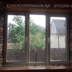 Монтаж окна, откосы из искусственного камня