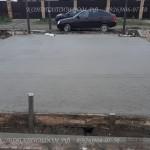 Бетонная площадка под авто