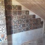 Плитка в ванной в деревянном доме