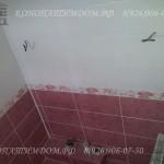 Ванная из плитки в деревянном доме