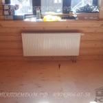 Радиатор отопления в срубе