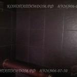 Стены из плитки в бане