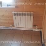 Радиатор в брусовом доме