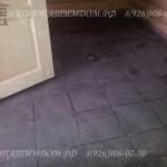 Плитка на полу в помывачной