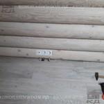 Розетка в деревянном доме