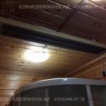 Инфракрасный обогреватель в деревянном доме