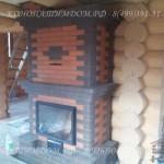 Печь камин в деревянном доме